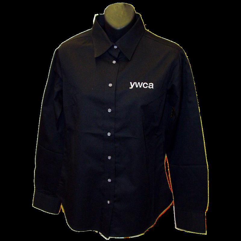 YWCA Ladies Black Button Up Shirt - YWCA Store