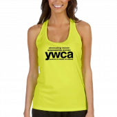 YWCA Ladies Racerback Soft Yellow Tanktop