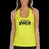 YWCA Ladies Racerback Soft Yellow Tanktop