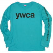 YWCA Long Sleeve Turquoise Tee