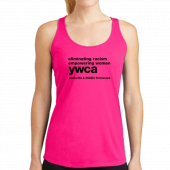 YWCA Hot Pink Racerback Tank