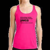 YWCA Hot Pink Racerback Tank