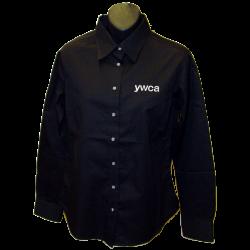 YWCA Ladies Black Button Up Shirt